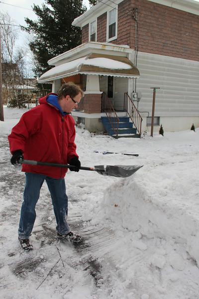 Man Shoveling, Kline Township (12-30-2012)