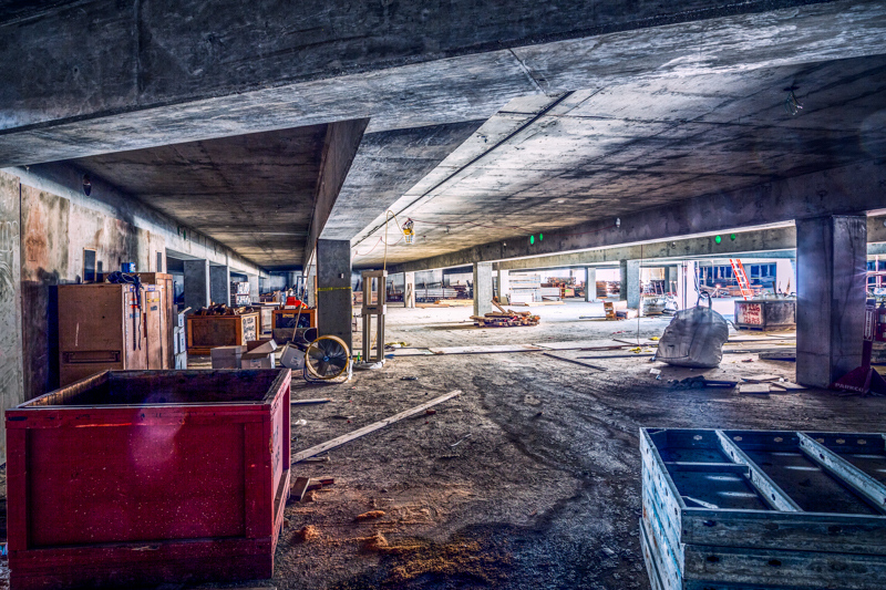 September 4 - Gryngy underbelly of a parking lot under construction.jpg