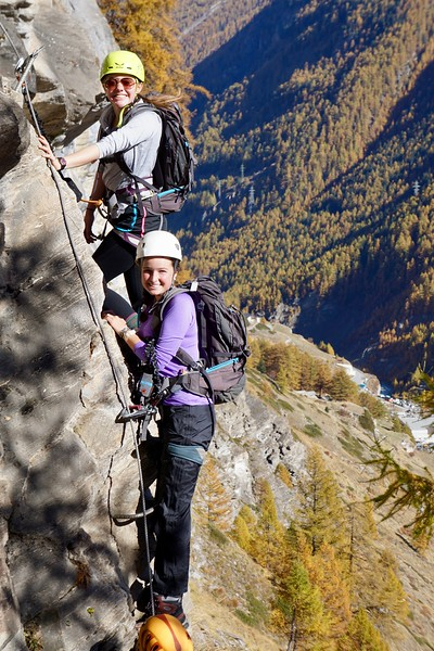 Ashlyn and Peyton on the Via Ferrata