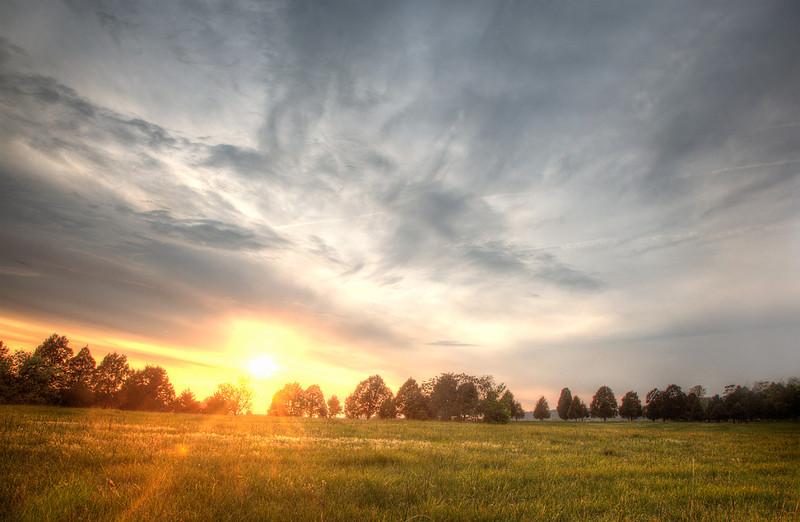 Sunset in Charlottesville, VA