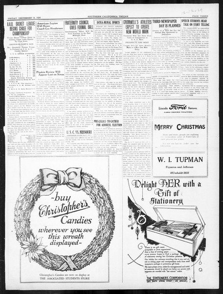 The Southern California Trojan, Vol. 16, No. 35, December 19, 1924