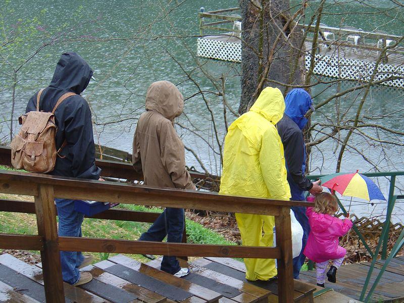 Rainy day at Lake Taneycomo