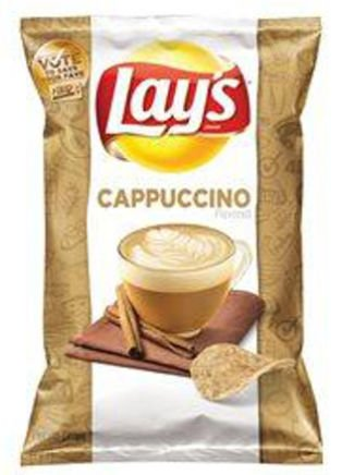 """. 9. CAPPUCCINO POTATO CHIPS <p>We�re guessing they taste the same exiting your digestive system as entering it. (unranked) </p><p><b><a href=\""""http://www.cbsnews.com/news/strange-brew-a-cappuccino-flavored-potato-chip/\"""" target=\""""_blank\""""> LINK </a></b> </p><p>   (Frito-Lay photo)</p>"""