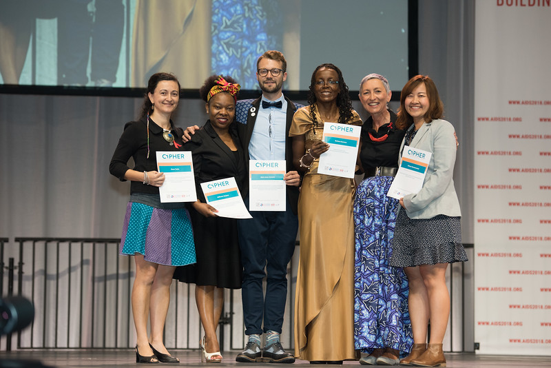 22nd International AIDS Conference (AIDS 2018) Amsterdam, Netherlands   Copyright: Marcus Rose/IAS  Photo shows: Plenary Session. CIPHER awards.