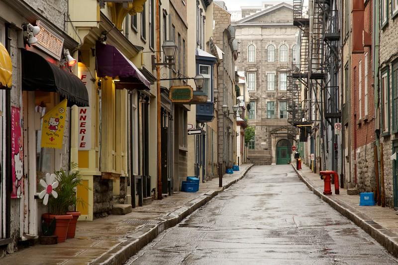 Rue Garneau, Quebec City, Canada.