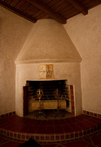 Fireplace. Scotty's castle.