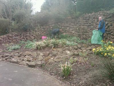 Garden Volunteering at Hollycroft park 2nd April 2011