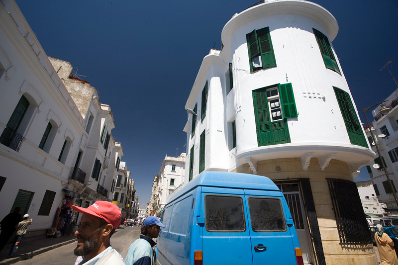 White buildings in the Spanish quarter, Tetouan, Morocco