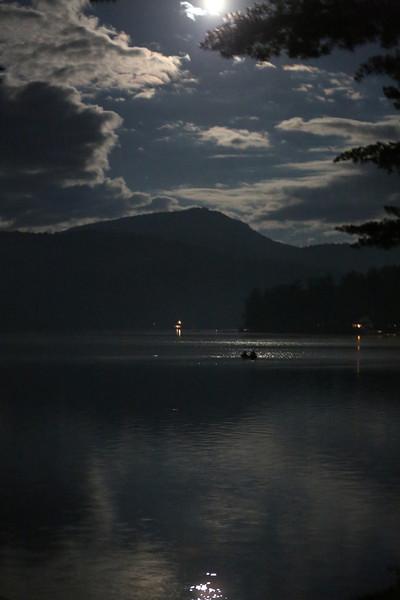Moonlight on Lake St Catherine