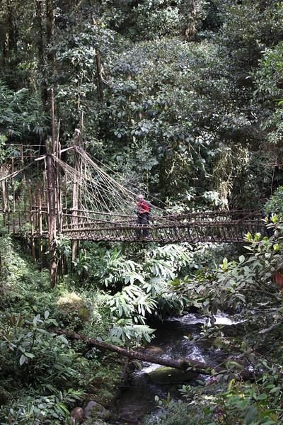 crossing river in Tari Basin