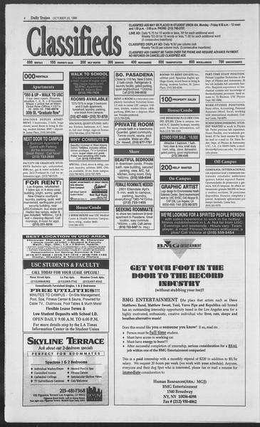Daily Trojan, Vol. 129, No. 41, October 25, 1996