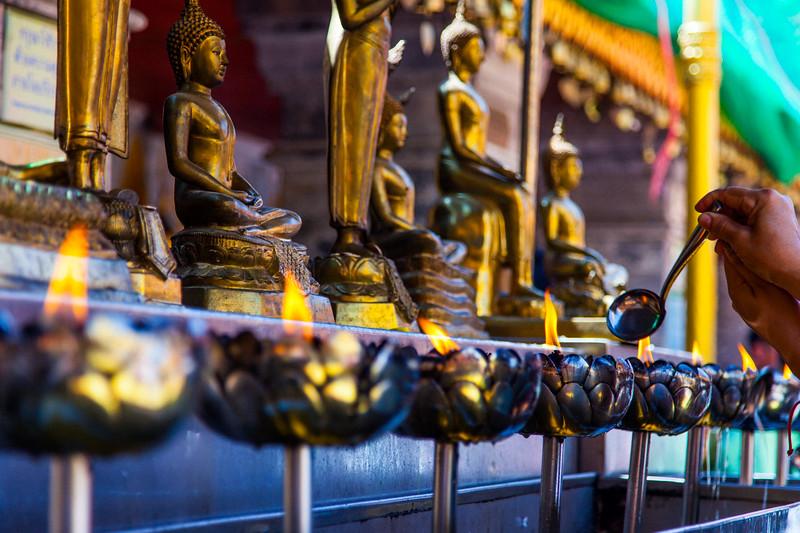 Ceremonial Oils, Doi Suthep, Chiang Mai, Thailand