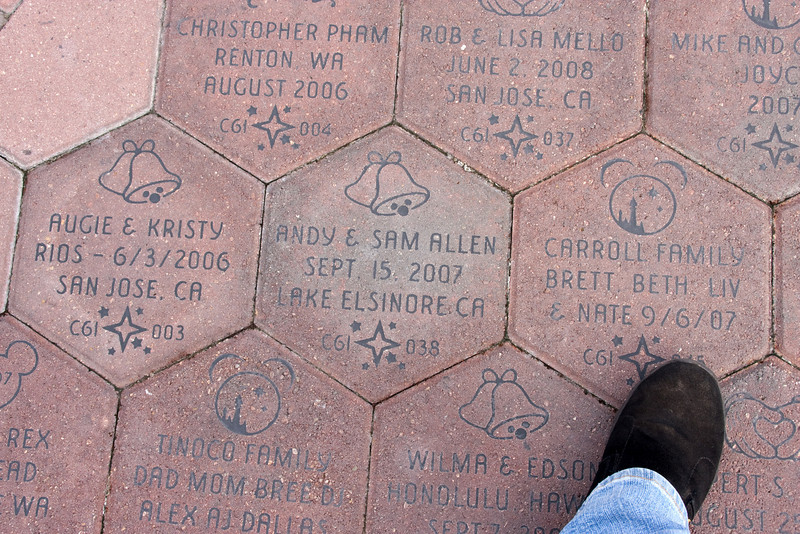 Random pavers in the mall between parks.