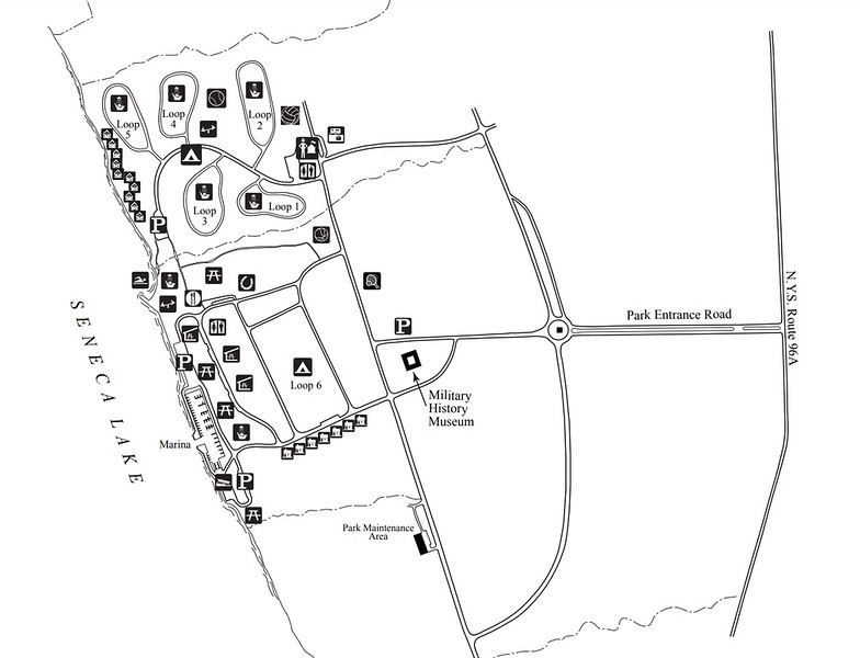 Sampson State Park (Facilities Map)