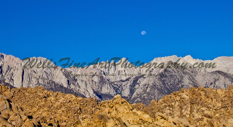 Moon over Sierras
