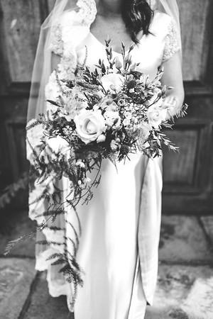 Black n white bouquet