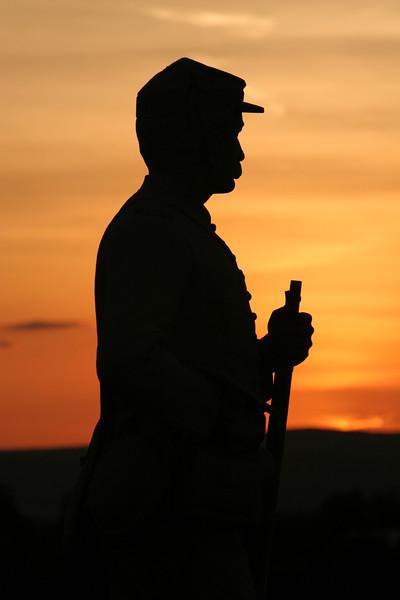 14th Brooklyn Monument at Sunset - Gettysburg National Battlefield, Pennsylvania