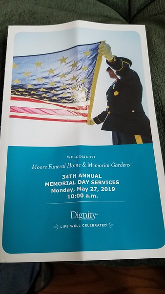 Memorial Day Services - Moore Funeral Home 5/27/19