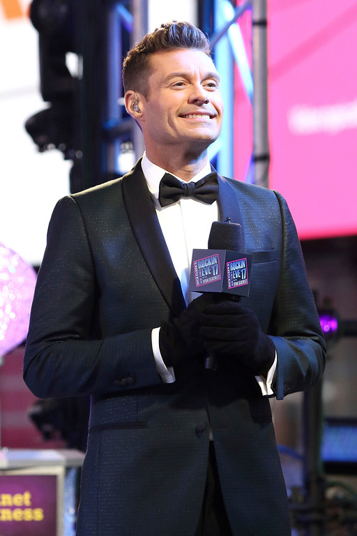 . Ryan Seacrest celebrates New Year\'s Eve in Times Square on Saturday, Dec. 31, 2016, in New York. (Photo by Greg Allen/Invision/AP)