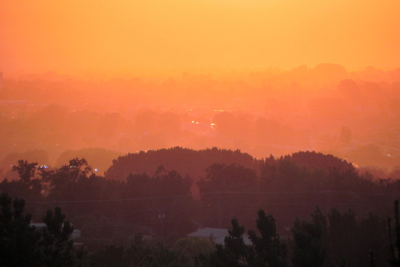 2011/6/23 – The sunset this evening was amazing. This shot was from my deck, looking out over the valley, as the sun was half set giving the valley a nice warm glow.