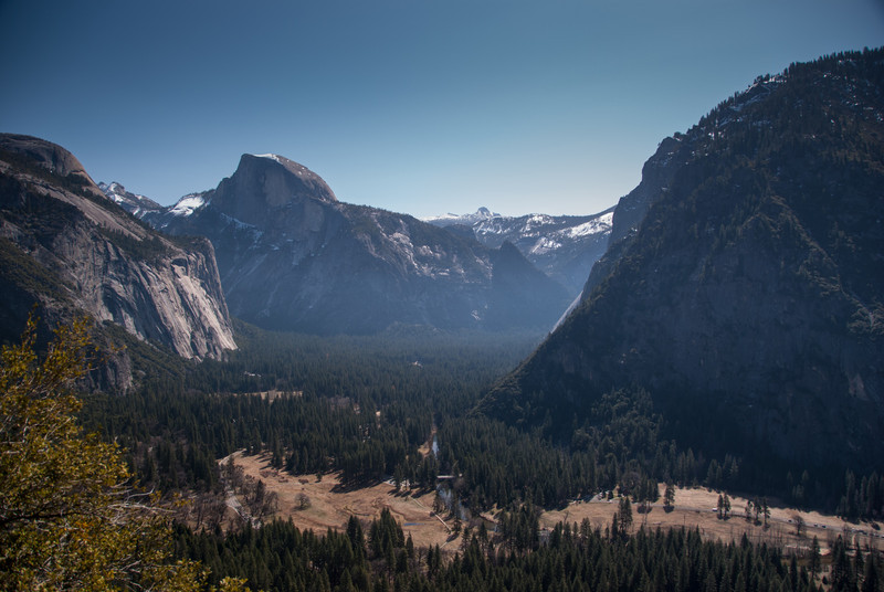 Halfdome and the valley
