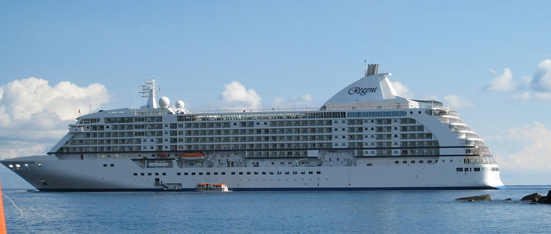 Naxos, Sicily - view of the ship from the tender