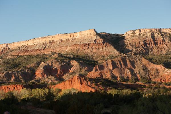 Palo Duro Canyon Oct 2012 nearing sunset.