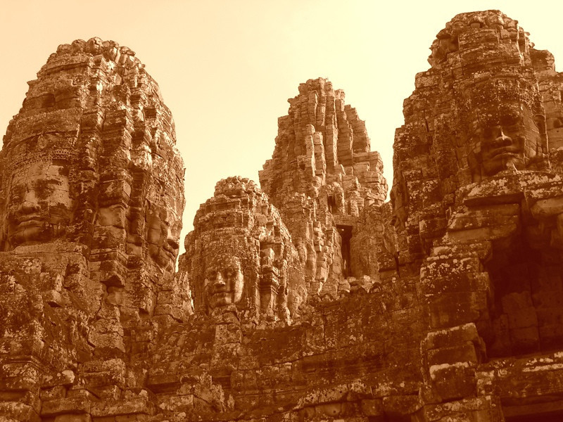 Bayon in the Late Afternoon - Angkor, Cambodia