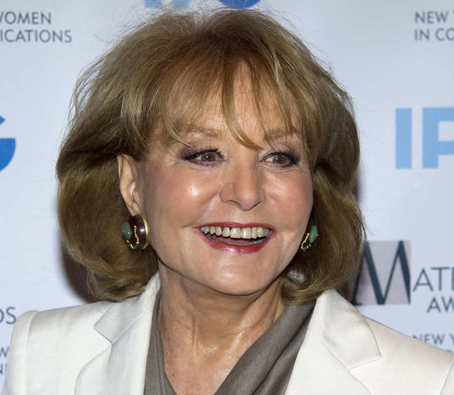". <p><b> TV icon Barbara Walters, looking to go out with a bang, has announced that she plans to do this on May 16 � </b> <p> A. Appear on �The View� for the final time before retiring <p> B. Start a new weekday talk show <p> C. Sleep with her 100th Congressman <p><b><a href=\'http://variety.com/2014/tv/news/barbara-walters-to-sign-off-from-the-view-on-may-16-1201153441/\' target=""_blank\"">HUH?</a></b> <p>   (AP Photo/Charles Sykes, File)"