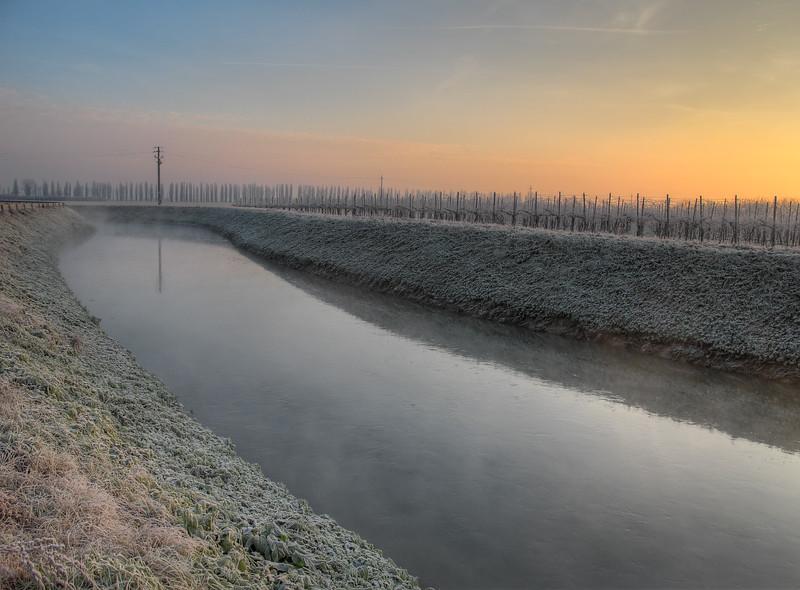 Morning Twilight - Canale Naviglio, Albareto, Modena, Italy - December 28, 2010