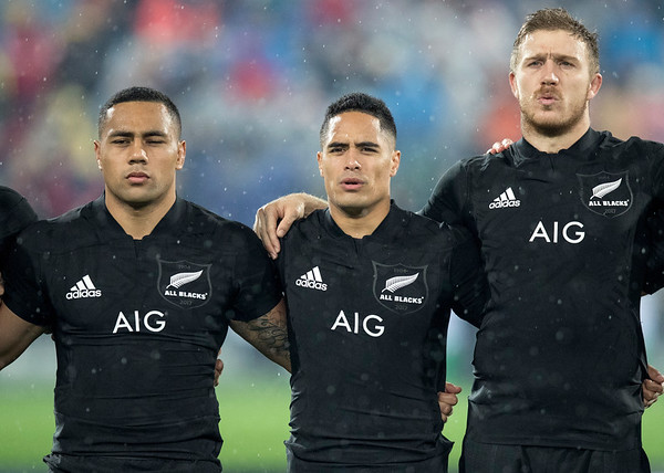 Ngani Laumape Aaron Smith  Nathan Harris  during game 9 of the British and Irish Lions 2017 Tour of New Zealand, the second Test match between  The All Blacks and British and Irish Lions, Westpac Stadium, Wellington, Saturday 1st July 2017 (Photo by Kevin Booth Steve Haag Sports)  Images for social media must have consent from Steve Haag