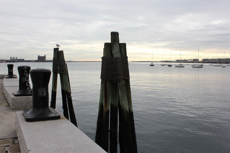 Long Wharf and Boston Harbor