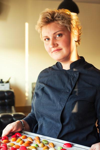 Chef Ekaterina Gebrak. Saint Petersburg, 2016.