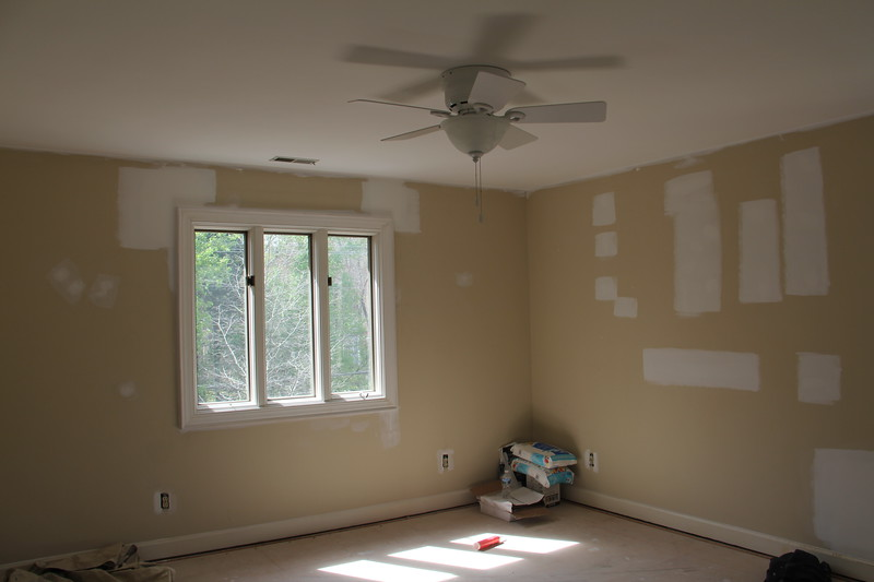 """upstairs bedroom (this is the largest bedroom) and will be the """"guest"""" room"""