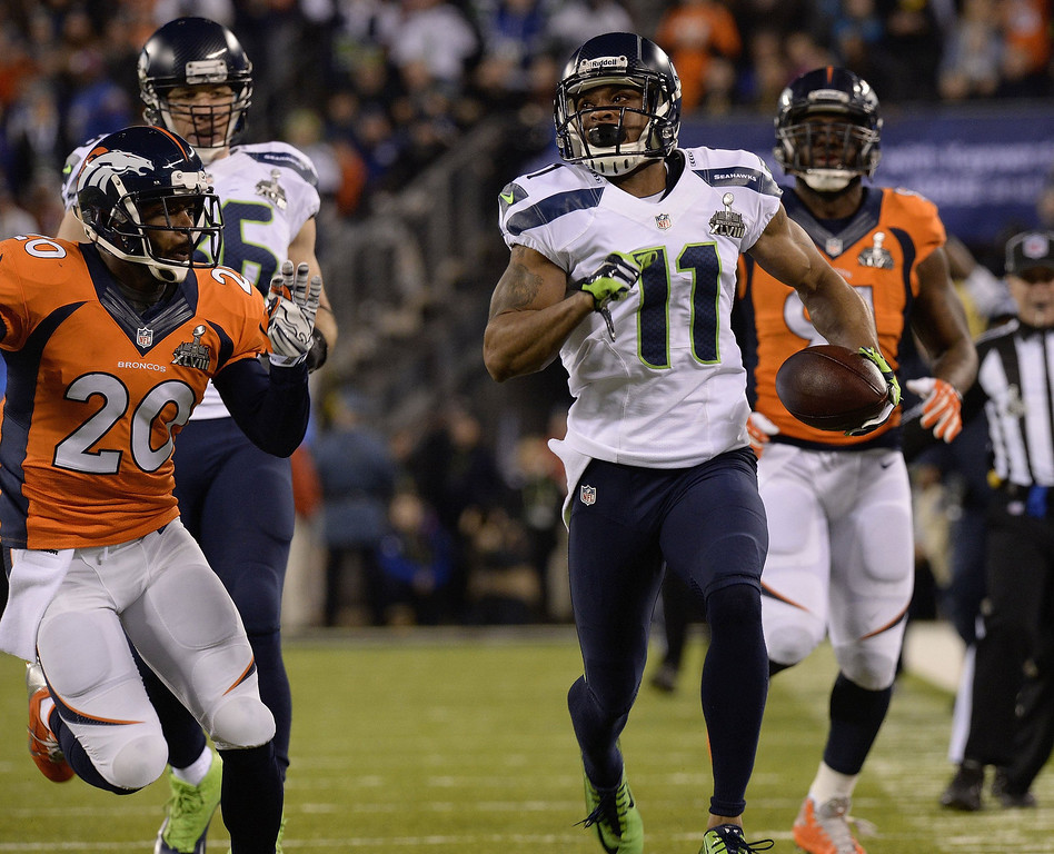 . <p><b>3. PERCY HARVIN</b> <p>Already debating whether to take next season off to keep himself fresh for Super Bowl XLIX. <p>    (Christian Murdock/Colorado Springs Gazette/MCT)