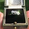 .80ctw Antique English 3-Stone Peruzzi Cut Diamond Ring 2