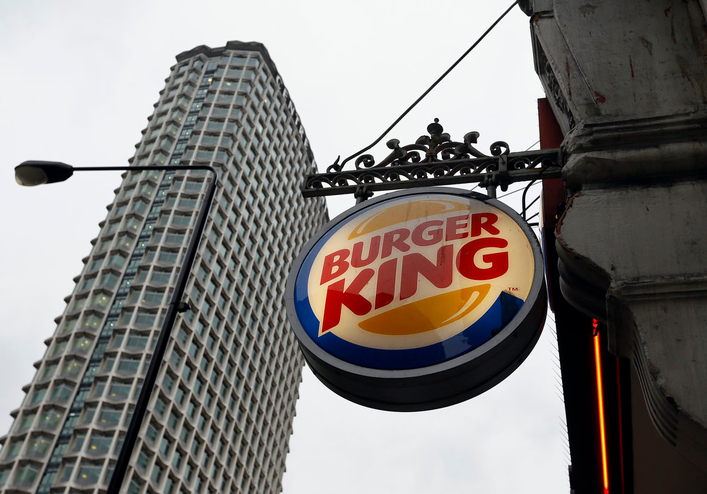 . A sign hangs at a branch of Burger King in central London, Thursday, Jan. 24, 2013. Burger King says it has stopped buying beef from an Irish supplier whose patties in Britain and Ireland were found to contain traces of horsemeat. Officials say there is no risk to human health, but the episode has raised food security concerns. (AP Photo/Kirsty Wigglesworth)