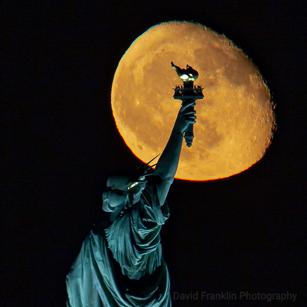 Statue of Liberty Moonrise