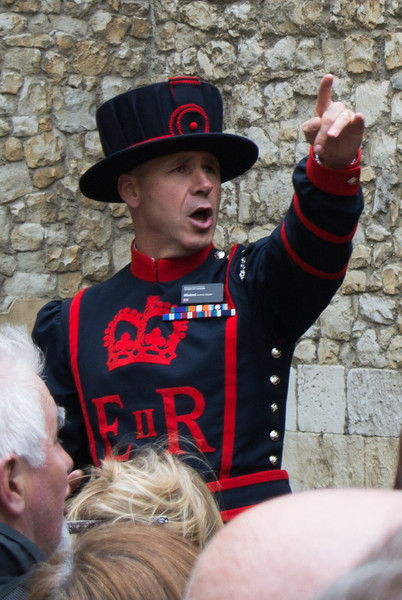 We had a difficult time understanding our Tower of London tour guide
