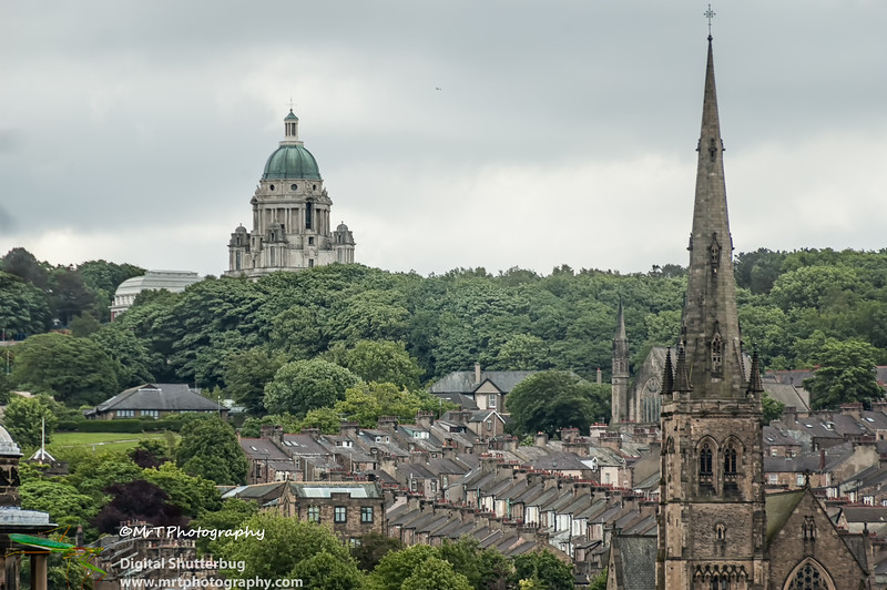 Skyline of Lancaster Lancashire England UK