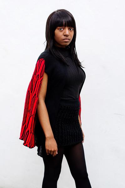 Yasmin with clothes by Lisha
