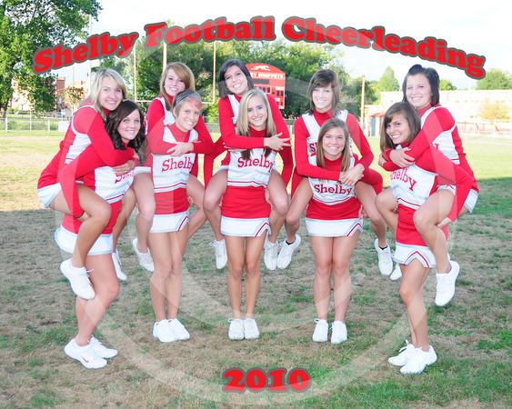 SHS Varsity Football Cheerleaders 2010