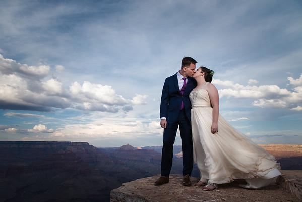 Christin and Jeremiah   Shoshone Point Wedding