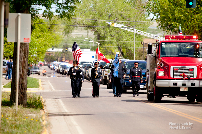 Havre Daily News/Floyd Brandt  Police came from all over the state to Havre for the Montana Law Enforcement Memorial Monday.