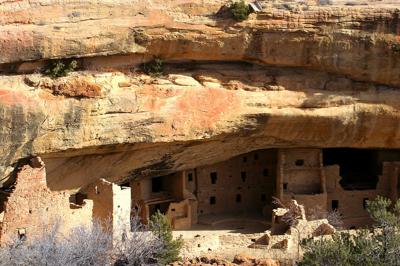 Some of the dwellings.  They were well protected in a place like this.  They were built by the Anasazi Indians about 900 years ago.