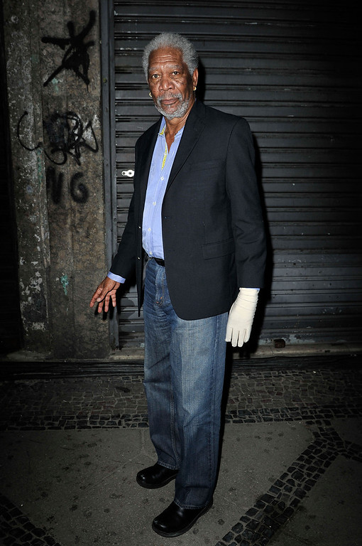 . Actor Morgan Freeman attends the Laureus Welcome Party at the Rio Scenarium during the 2013 Laureus World Sports Awards on March 10, 2013 in Rio de Janeiro, Brazil.  (Photo by Gareth Cattermole/Getty Images For Laureus)