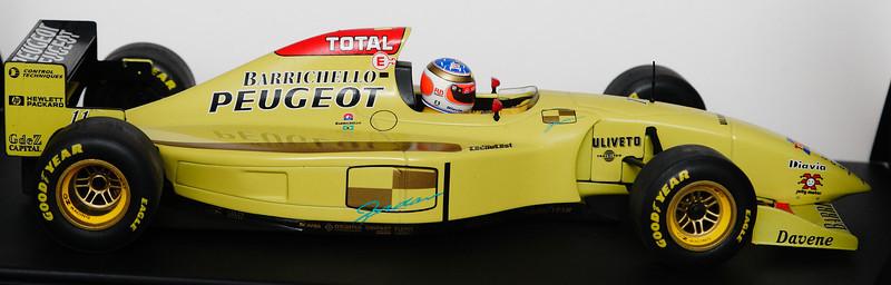 1996 #11 Jordan Peugeot Rubens Barrichello Showcar SIGNED