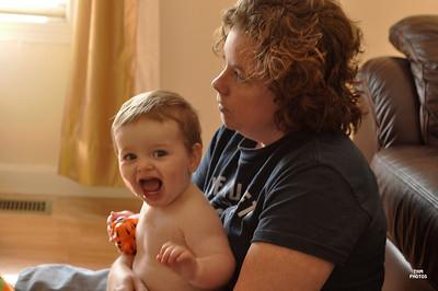 Mom and Me - having fun 8/2009