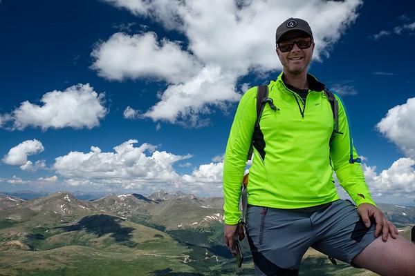 Hiking Mt. Bierstadt with Phil