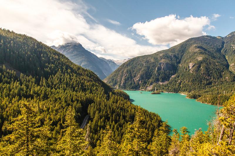 Diablo Lake from the Thunder Knob Trail